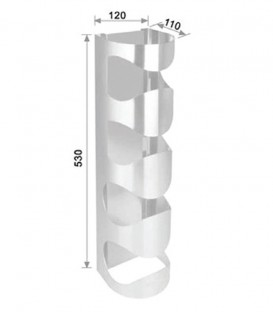 Μπουκαλοθήκη 4 Θέσεων INOX