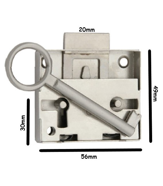 Κλειδαριά Ντουλάπας 30mm