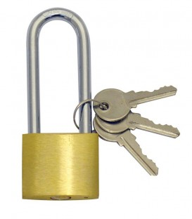 Λουκέτο Μακρύλαιμο 75mm με Κλειδί