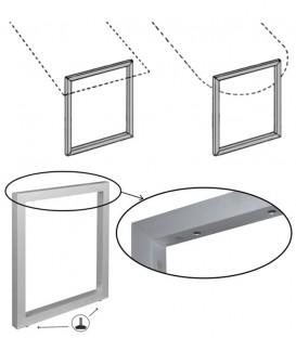 Πόδι τραπεζιού Τετράγωνο Κλειστό 5x5cm