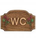 Ξύλινη επιγραφή WC No 453
