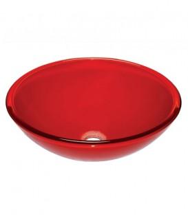 Νιπτήρας Γυάλινος Επίπλου RED