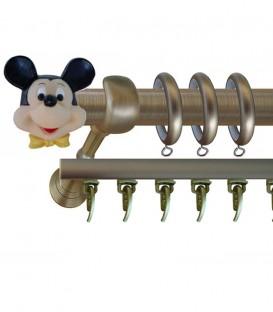 Κουρτινόβεργα Mickey Mouse - Φ25