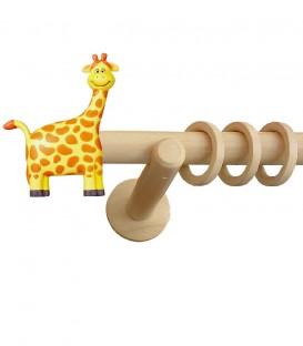 Κουρτινόξυλο Ξύλινο Giraffe - Φ28
