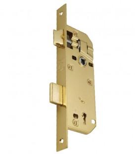 Κλειδαριά Μεσόπορτας Χρυσή Τετράγωνη K40-90mm Eco Line