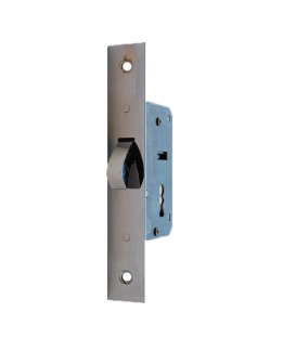 Κλειδαριά Συρόμενης Πόρτας Νίκελ No 700 Παπαγαλάκι