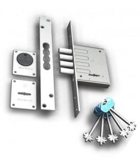 Πρόσθετη Κλειδαριά Ασφαλείας Νίκελ 2 Στροφών No 2025